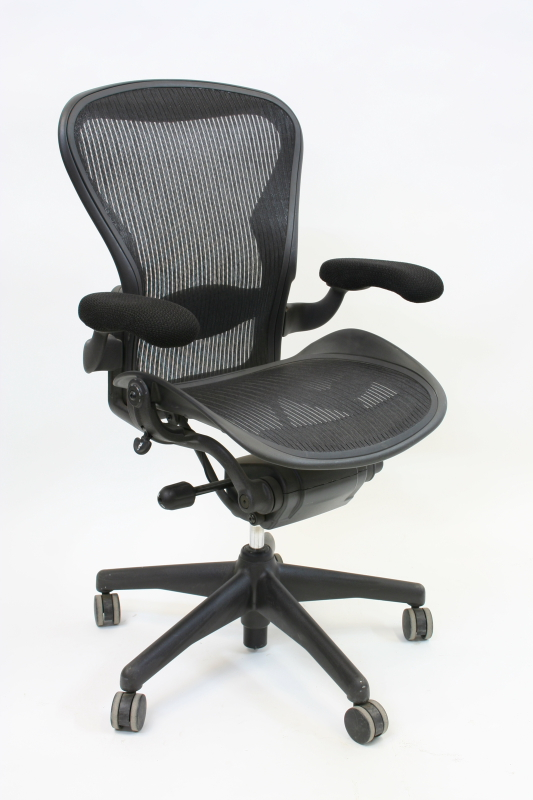 Chair Office Aeron Ergonomic Woven Mesh Seat Back Grey