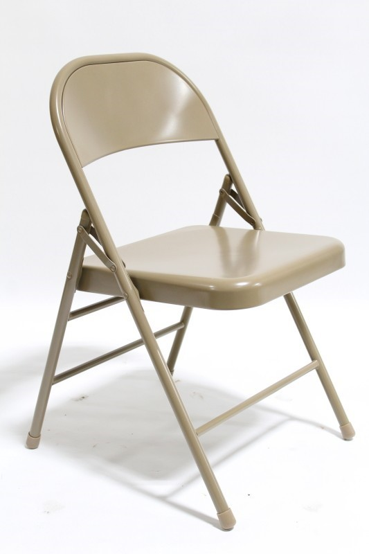 Chair Folding Plain Steel Folding Metal Brown Vanprop Ca