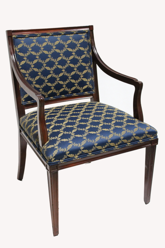 Chair Armchair Traditional Dark Stained Wood Legs Arms