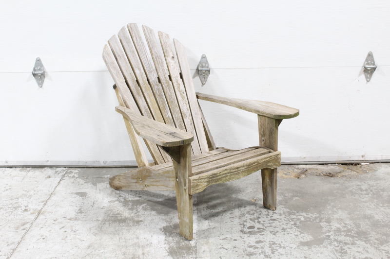 Chair Lawn Adirondack Muskoka Style Angled Back Unfinished
