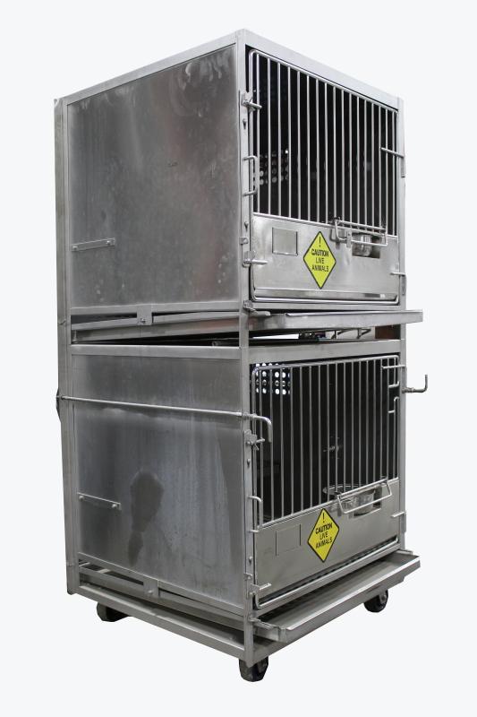 Cage Laboratory Double Unit W Large Primate Sized Lab
