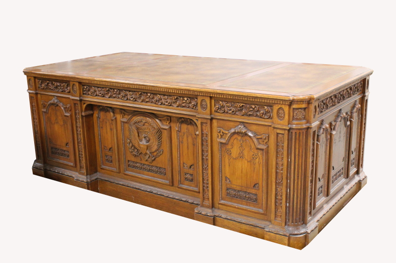 oval office table. Desk Wood LARGE PARTNERu0027SPRESIDENTIAL DESK WCARVED EAGLE FRONT DOUBLE Oval Office Table