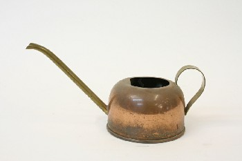 Garden, Watering Can, TUBULAR SPOUT, BAND ALONG BOTTOM, METAL, COPPER