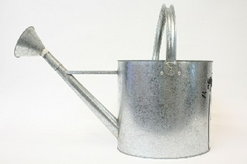Garden, Watering Can, GALVANIZED, METAL, GREY