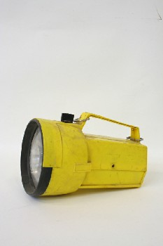 Lighting, Flashlight, INDUSTRIAL,BLK & YELLOW,AGED , PLASTIC, YELLOW